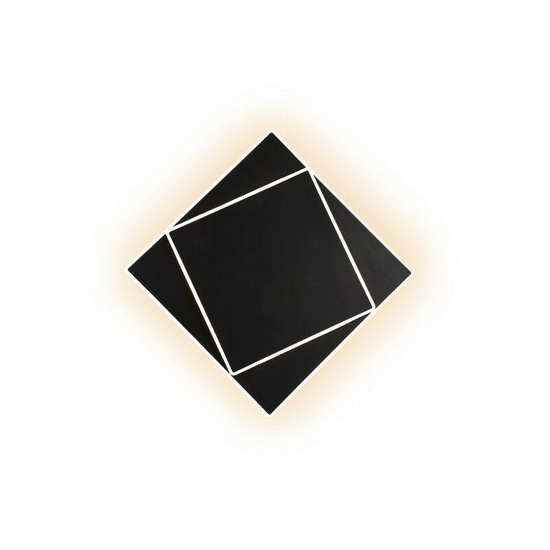 Applique LED noire Dakla 28 cm