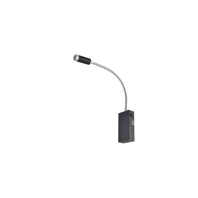 Applique liseuse LED noir mat et aluminium