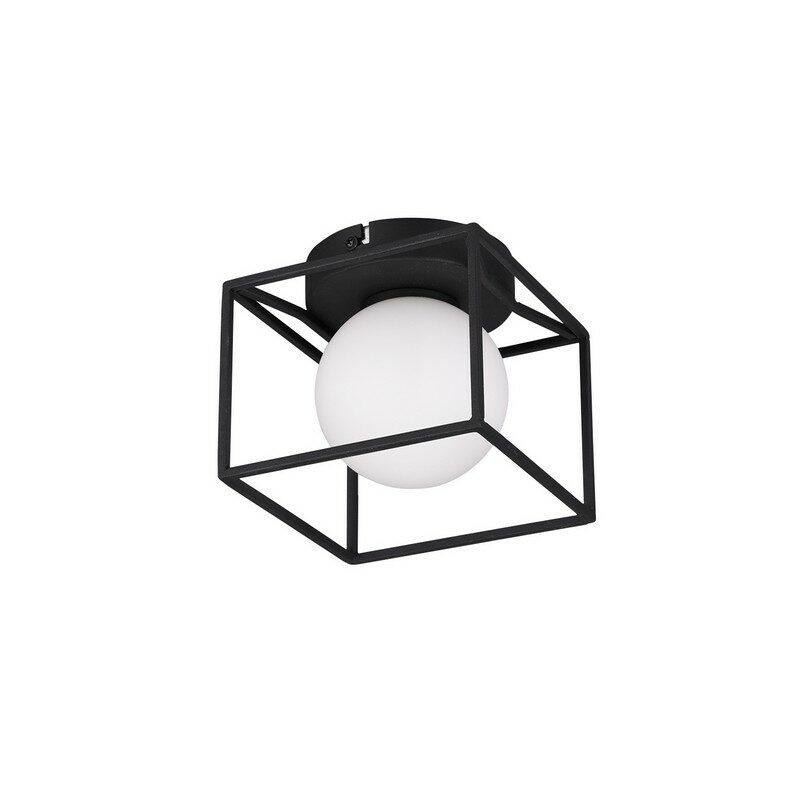 Plafonnier noir mat 1 lumière Gabbia