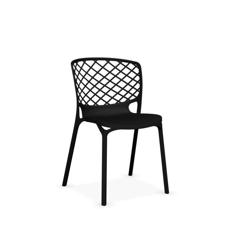 Chaise design noire en nylon Gamera - Fluor luminaires