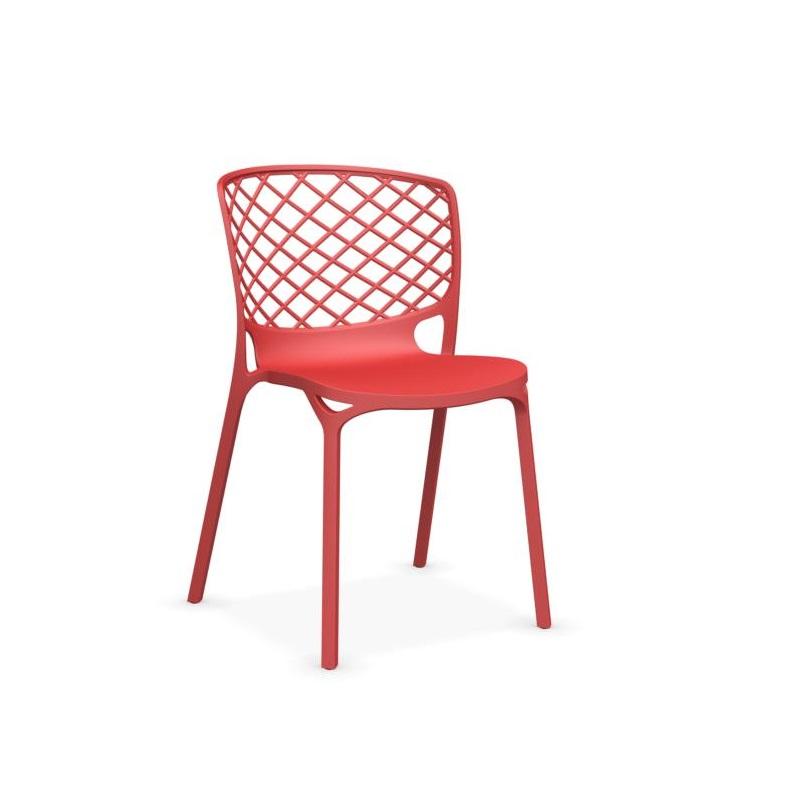 Chaise design Gamera rouge en nylon