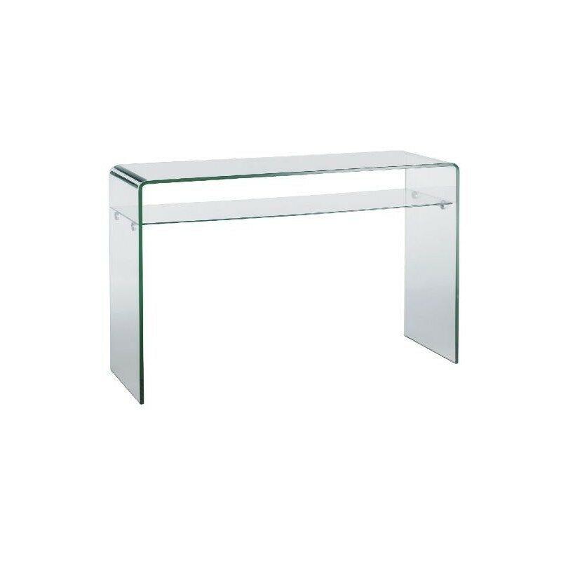 Console en verre double plateau Source