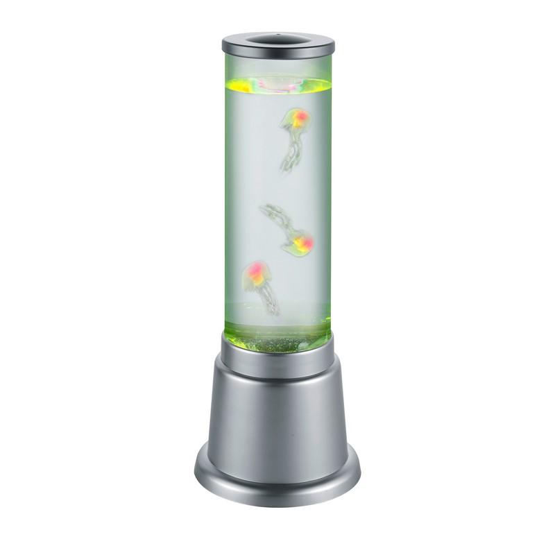 Colonne à bulle avec méduses et lumière LED Jelly