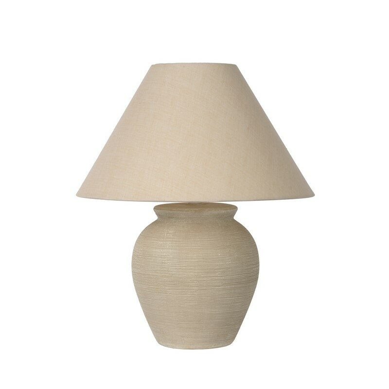 Lampe à poser avec abat-jour crème 34 cm Ramzi