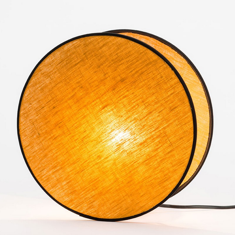 Lampe Luna abat-jour moutarde 30 cm