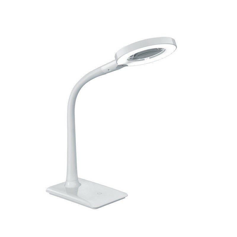 Lampe de bureau grossissante LED blanche Lupo
