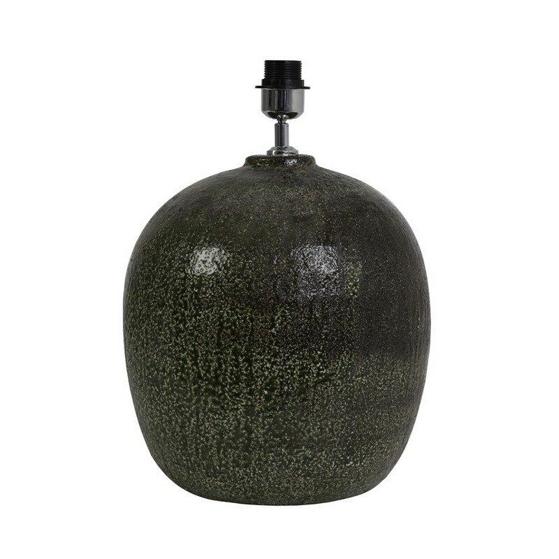 Pied de lampe en céramique vert mousse Duncan