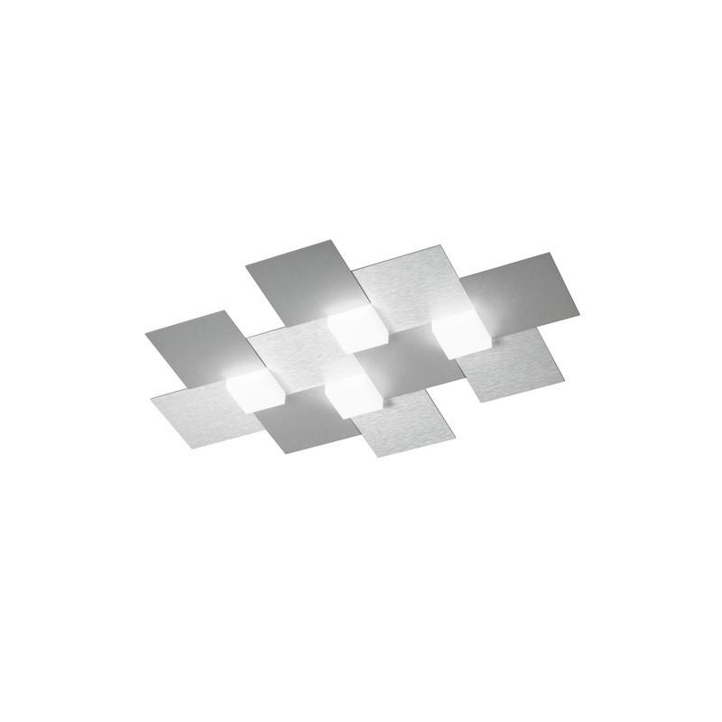Plafonnier Grossmann Créo 4 lumières aluminium brossé