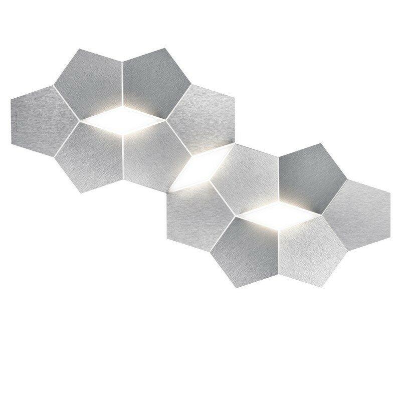 Applique Grossmann LED aluminium brossé 3 lumières Linde