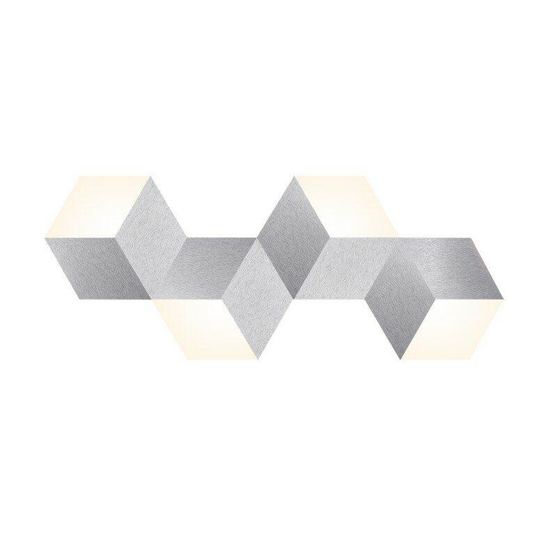 Applique grossmann LED aluminium brossé 4 lumières Geo