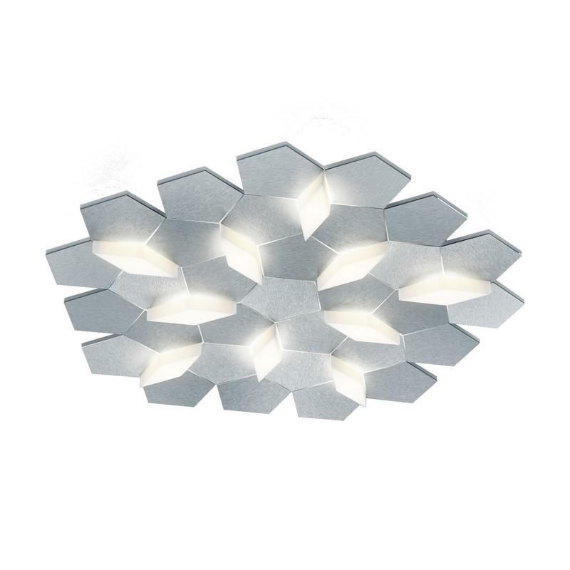 Applique Grossmann LED aluminium brossé 10 lumières Karat