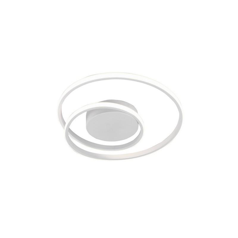 Plafonnier LED blanc mat Zibal variable