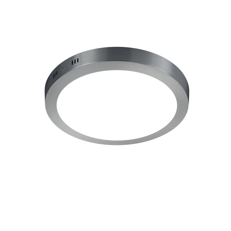 Plafonnier nickel mat LED 22 cm Cento
