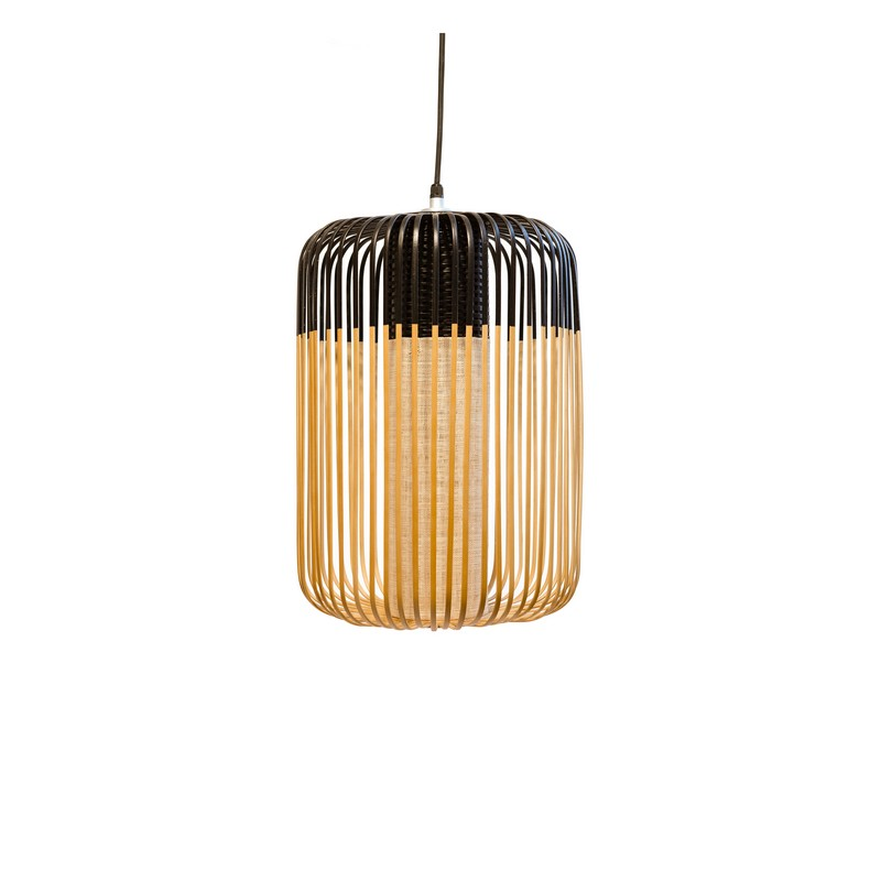 Suspension Bamboo light large d.35 cm noire – Forestier