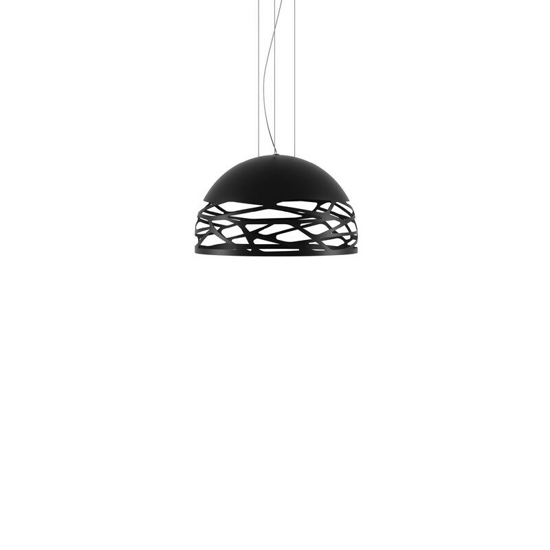 Suspension Studio Italia Kelly noire dôme 50 cm