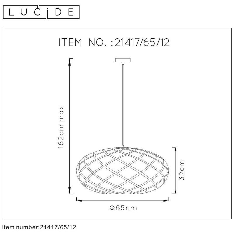 Suspension chrome dépoli Wolfram 65 cm