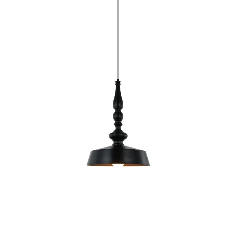 Suspension noire intérieur or 35 cm