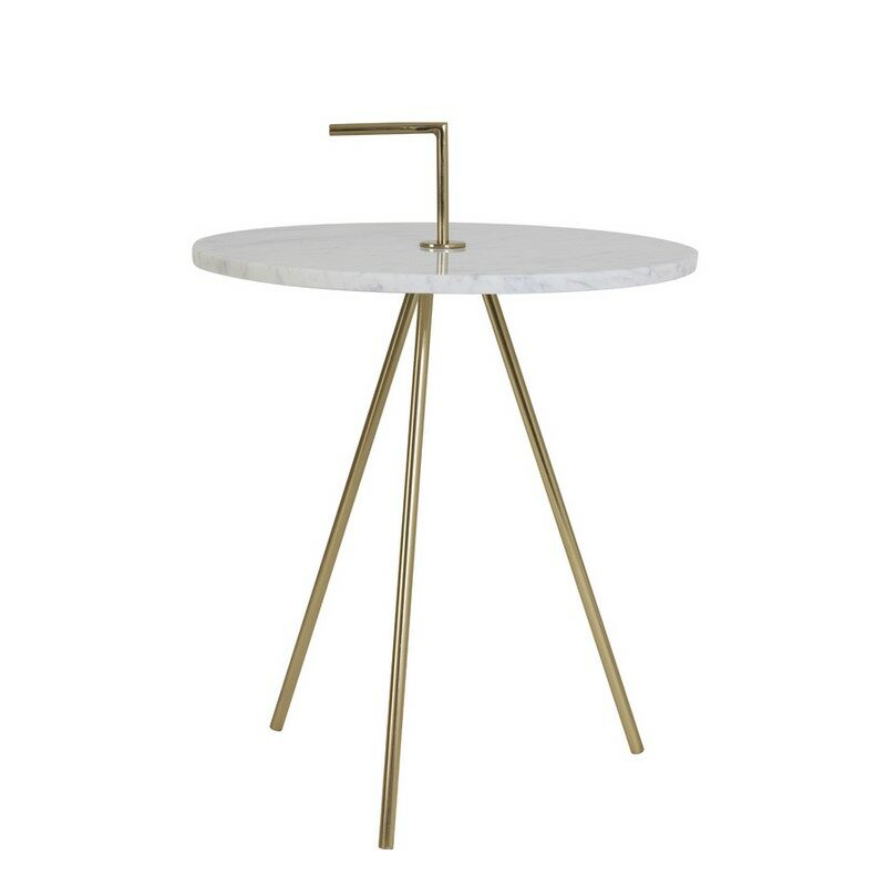 Table d'appoint marbre blanc Moyuta