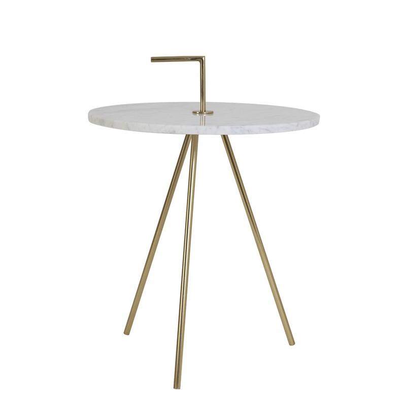 Table d'appoint marbre blanc Moyuta
