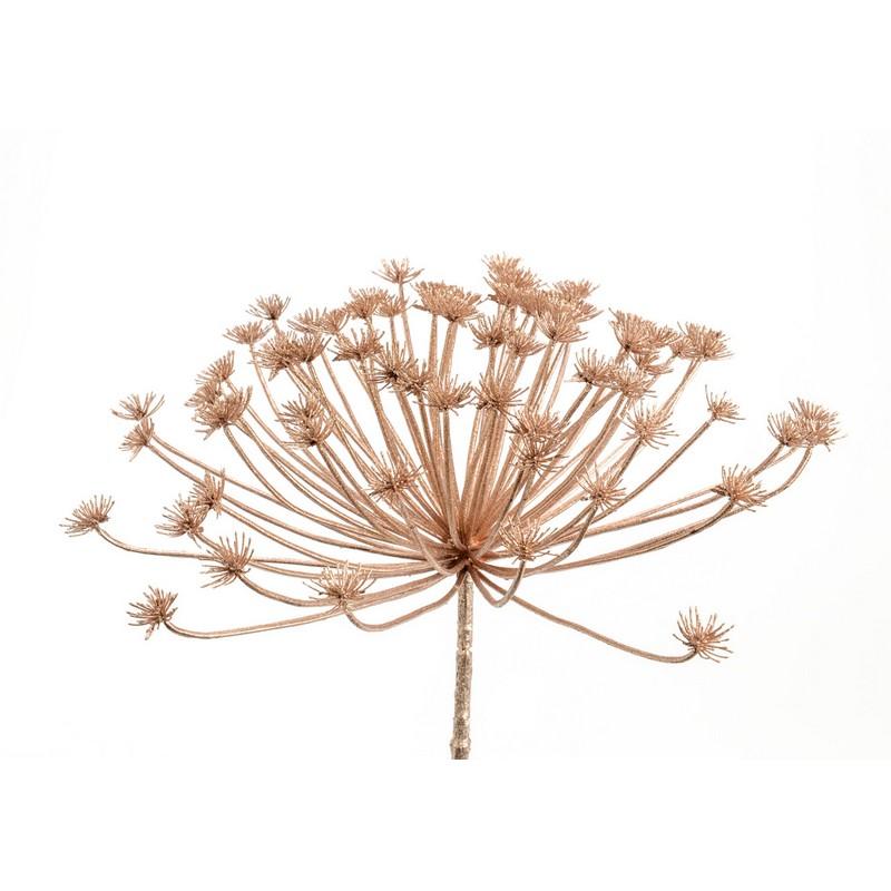 Fleur Achillée royal cuivre