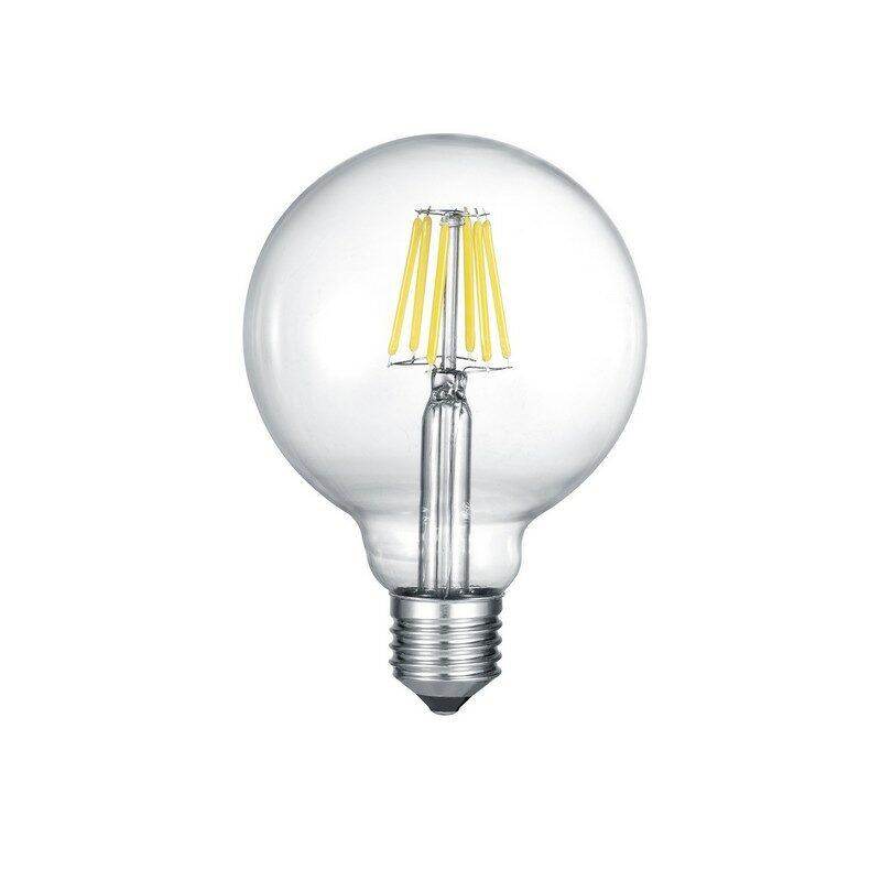 Ampoule Globe LED E27 6 watts transparente