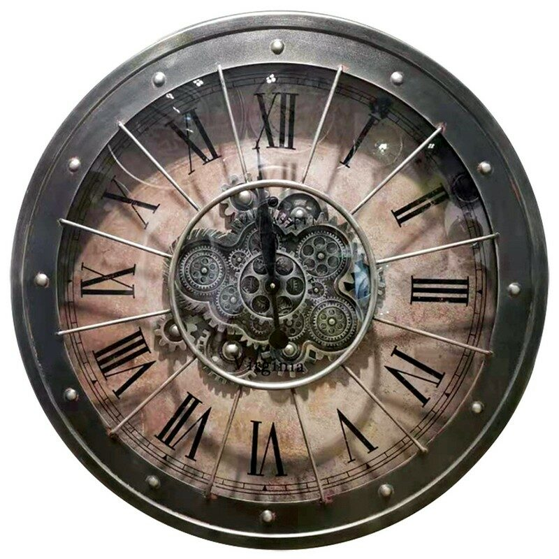Horloge à engrenages 80 cm