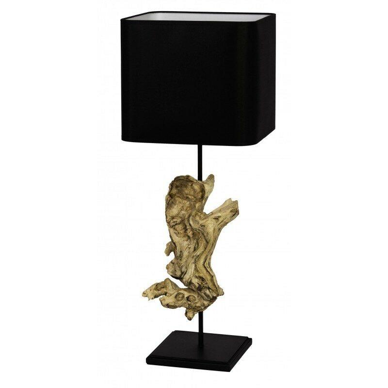 Lampe à pose Kaduna bois et noir