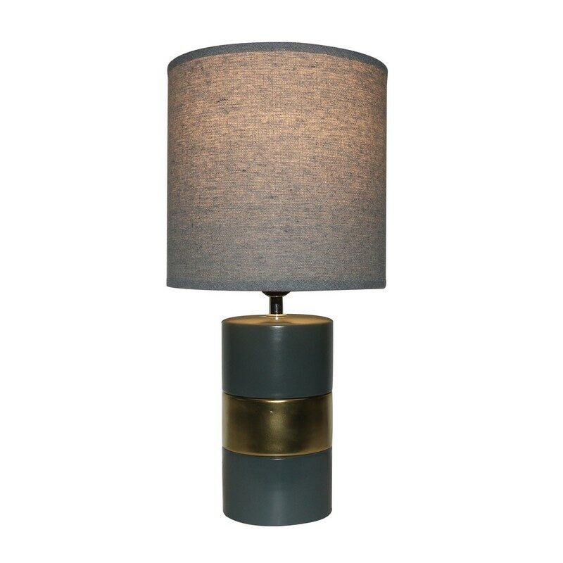 Lampe à poser en céramique grise Gypse 41 cm