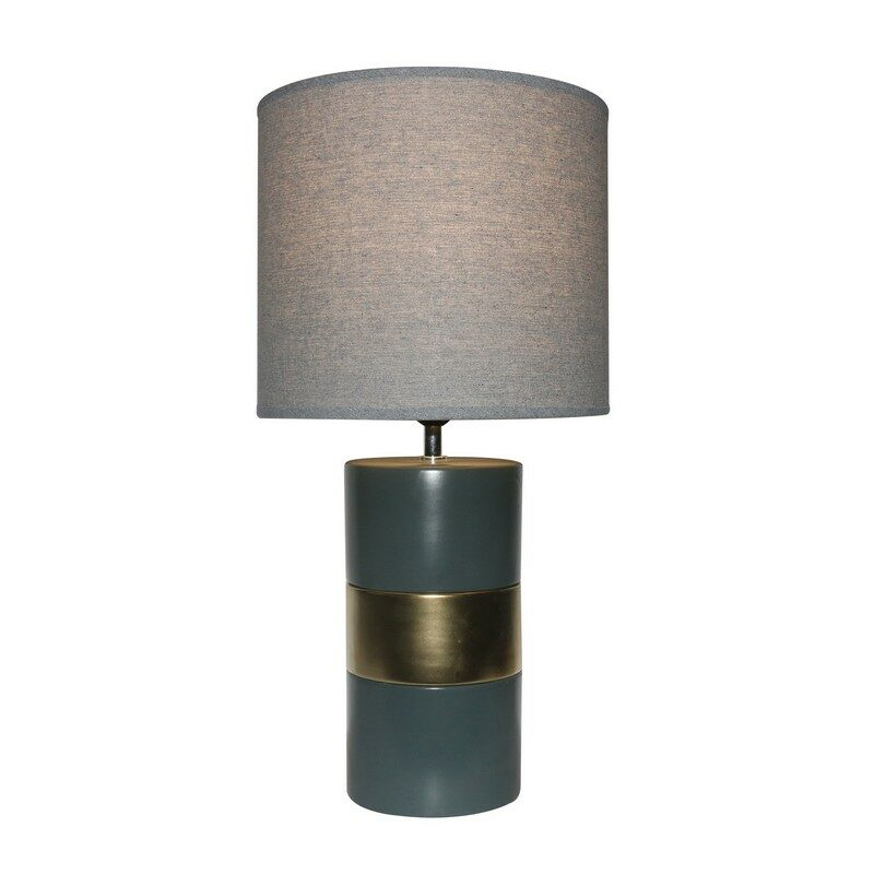 Lampe à poser en céramique grise Gypse 58 cm