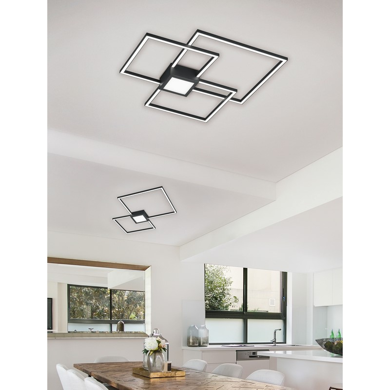 Plafonnier anthracite LED Hydra dimmable