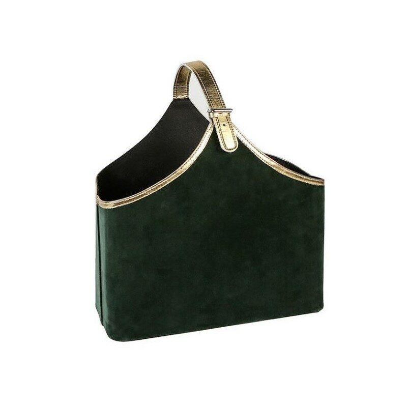 Porte-revues Velvet vert foncé et noir