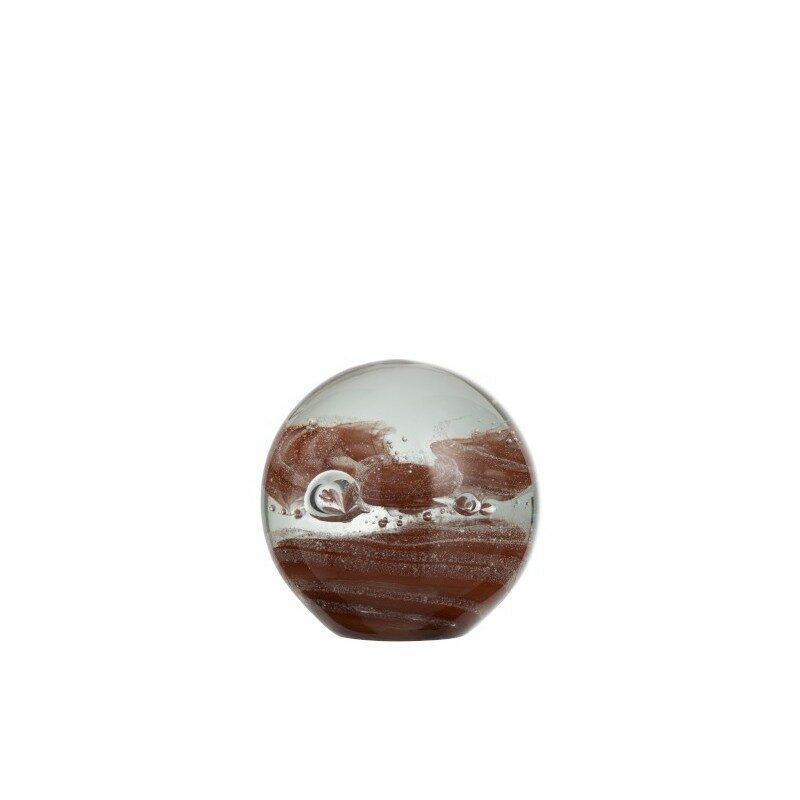 Presse papier Cyclone marron et transparent 12 cm
