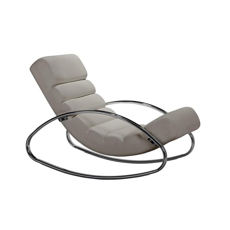 Rocking-chair taupe Urban 118 cm