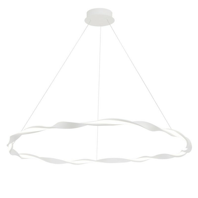 Suspension blanche LED Madagascar 108 cm