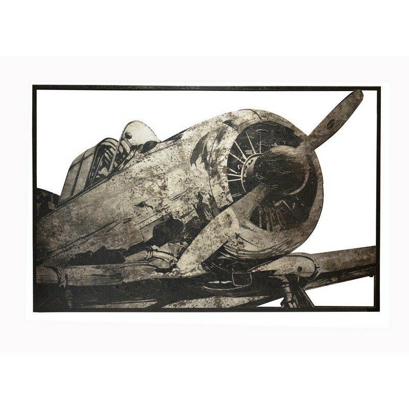 Tableau Avion relief 123 x 80 cm