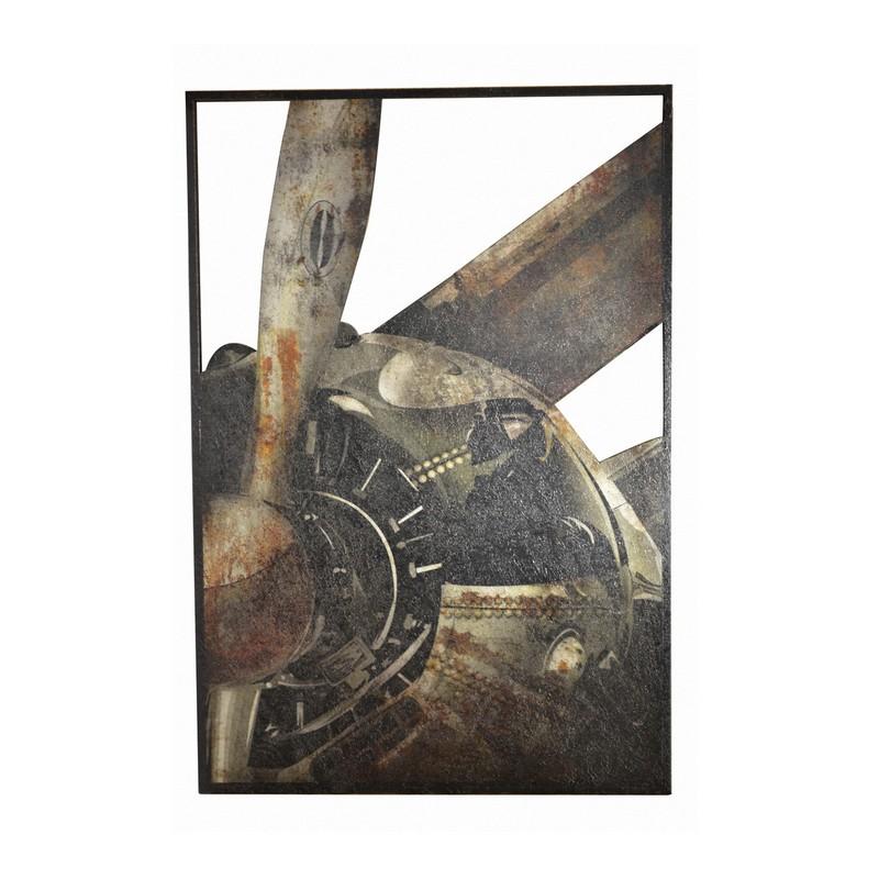 Tableau Avion relief 125 x 85 cm