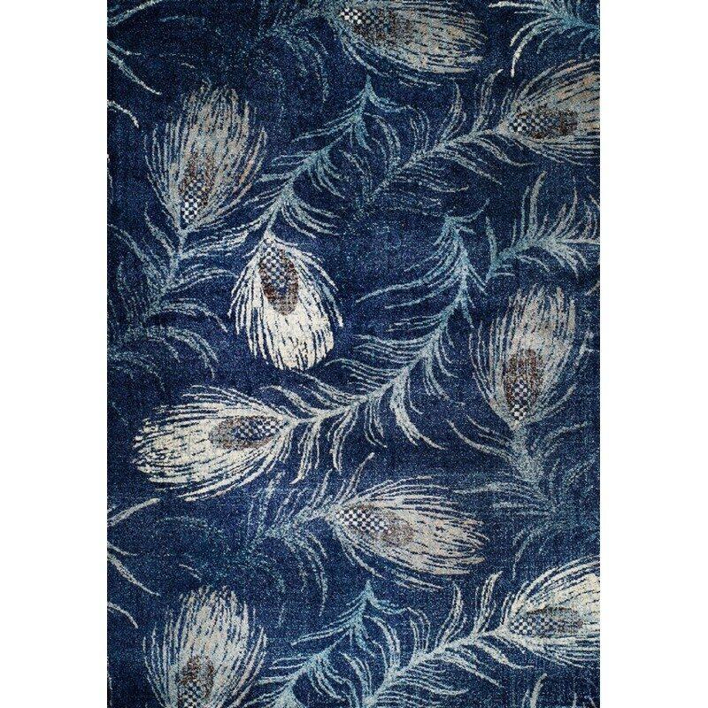 Tapis Casanova tons bleu 200 x 285 cm