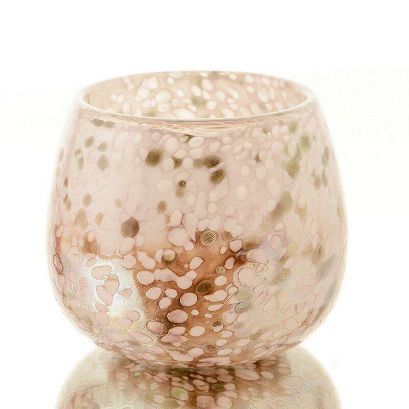 Vase rose et or Pépites 15 cm