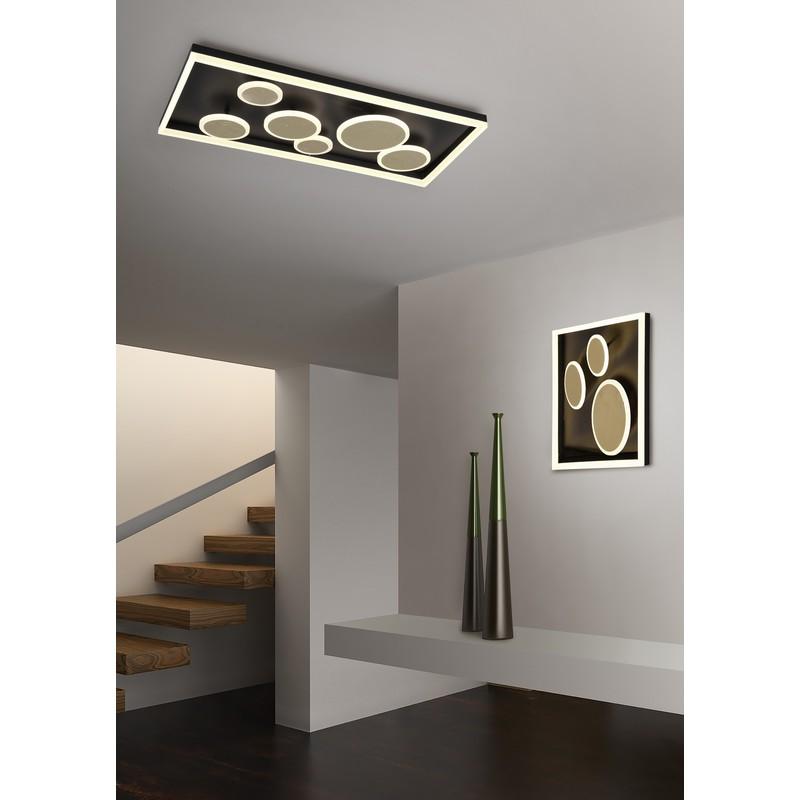 Plafonnier LED noir et or Harriet
