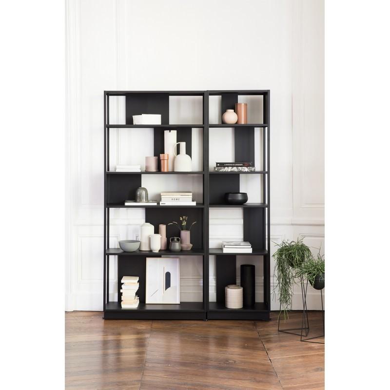 Bibliothèque Arlequin noire 55 cm