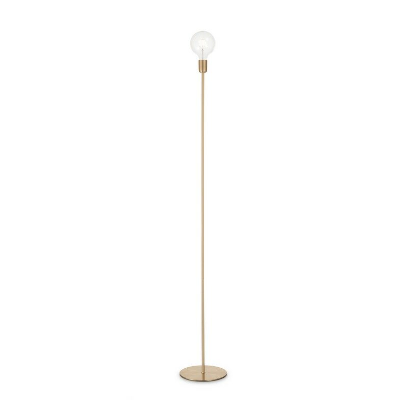 Lampadaire laiton 1 lumière Microphone