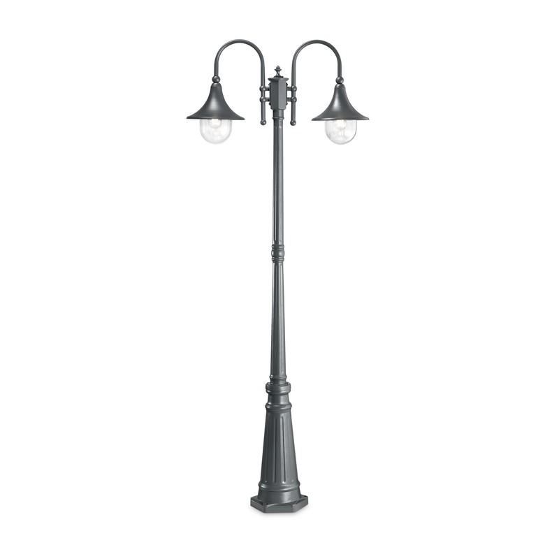 Lampadaire 2 lumières anthracite Cima