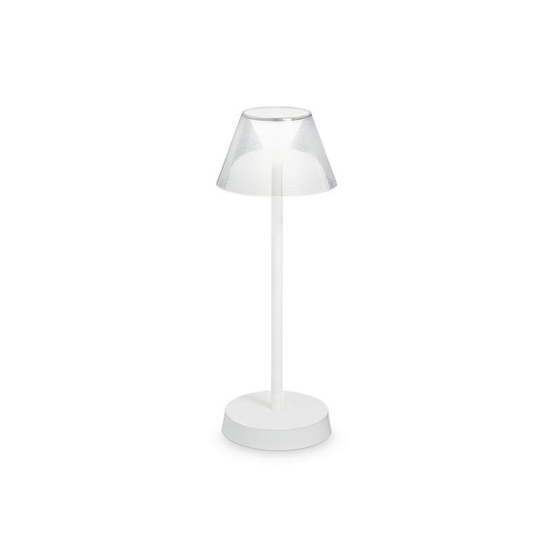 Lampe de table à batterie IP44 LED Lolita blanche