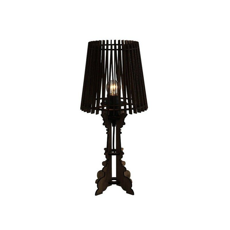 Lampe à poser en bois noir Suroît