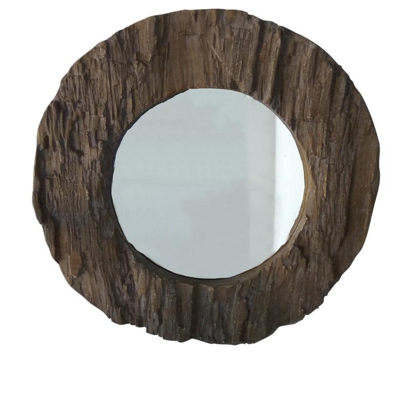 Miroir en bois naturel Mgo 80 cm