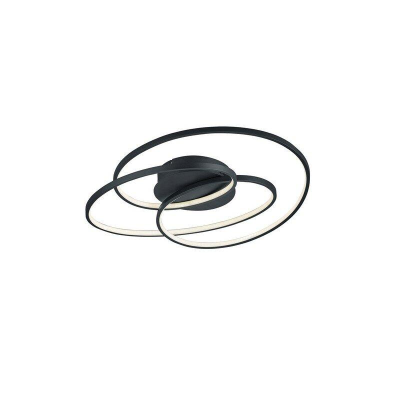 Plafonnier LED noir Gale