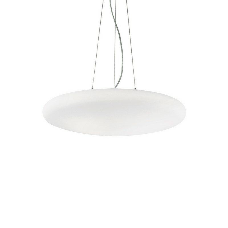 Suspension verre soufflé blanc Smarties 3 lumières