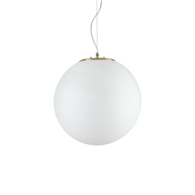 Suspension boule blanche 40 cm doré Grape