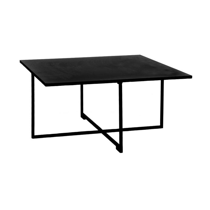 Table basse Seattle métal noir grand modèle