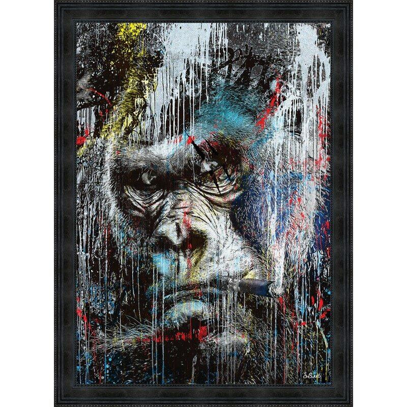 Tableau Gorille Pop Sylvain Binet 93 x 133 cm